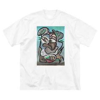 ヨウムモデル Big silhouette T-shirts