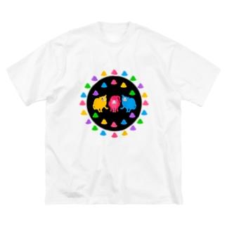 ネコシルエット フンバルンバ隊 Big silhouette T-shirts