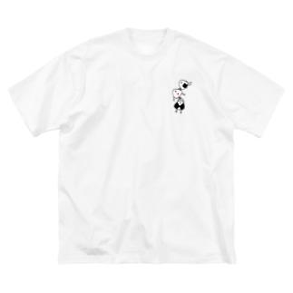 強く生きてTシャツ Big silhouette T-shirts
