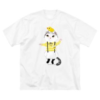 販売員サスケ Big silhouette T-shirts