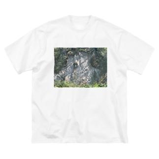 ヤマノキズ Big silhouette T-shirts