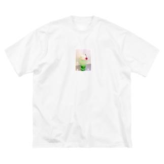 メロンクリームソーダ Big silhouette T-shirts