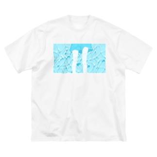 プールの女の子 Big silhouette T-shirts