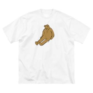 くたびれ Big silhouette T-shirts