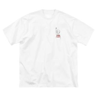 ながい文鳥 Big silhouette T-shirts