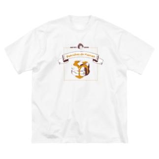 ママンのパンケーキ Big silhouette T-shirts