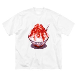 ドット絵-かき氷 Big silhouette T-shirts