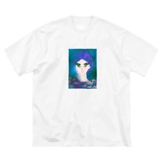 葉眉女子 Big silhouette T-shirts
