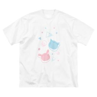 うさねこまるさんかく Big Silhouette T-Shirt