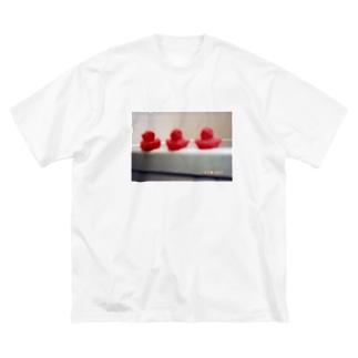 ahiru Big silhouette T-shirts