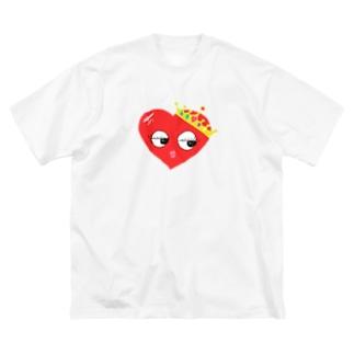 ハートのおひめさま、あ Big silhouette T-shirts