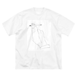 タバコ Big silhouette T-shirts