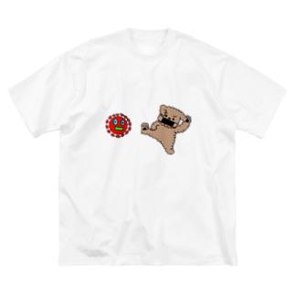 ウィルスばいばいヒーローズ Big silhouette T-shirts