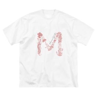 M_ハナミズキフォント Big silhouette T-shirts