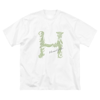 H_ハナミズキフォント Big silhouette T-shirts
