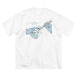 無菌培養 Big silhouette T-shirts