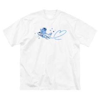 マメルリハ隊長 Big silhouette T-shirts