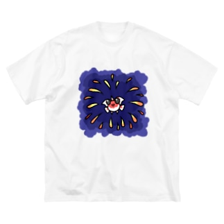 金魚花火 Big silhouette T-shirts