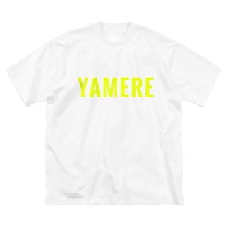 YAMERE(イエロー) Big silhouette T-shirts