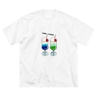 ツインソーダ Big silhouette T-shirts