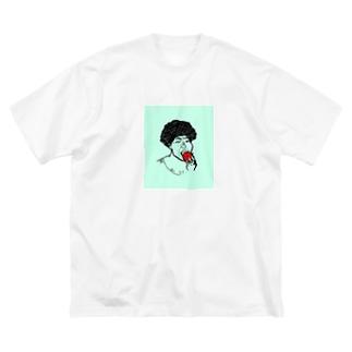架空人物:きゃんちゃん Big silhouette T-shirts