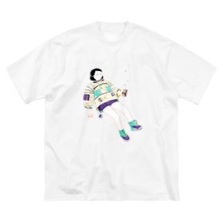 未来の音楽 Big silhouette T-shirts