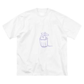 さみしい猫 Big silhouette T-shirts