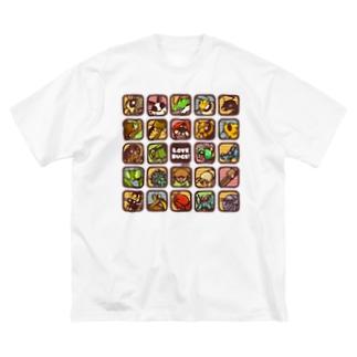 むしアイコン【LOVE BUGS! 】 Big silhouette T-shirts