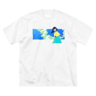 入道雲ガール Big silhouette T-shirts