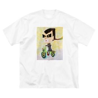 自転車暴走族 Big silhouette T-shirts
