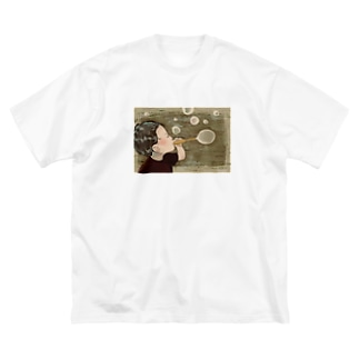 しゃぼん玉ふきたい Big silhouette T-shirts