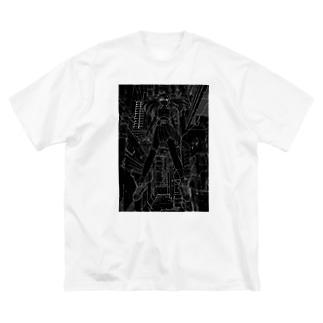 GIRL_01_REVERSE Big silhouette T-shirts