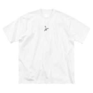 チューリップ Big silhouette T-shirts