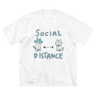 SOCIAL DISTANCEな服 Big silhouette T-shirts