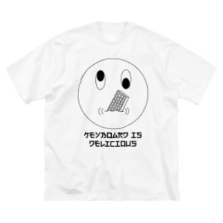 キーボードmgmg ex Tシャツ Big silhouette T-shirts