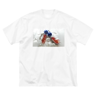 天川金魚 Big silhouette T-shirts