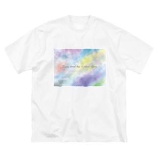 雲T(※前だけプリント) Big silhouette T-shirts