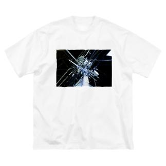 中野・夜中のいい電線 Big silhouette T-shirts