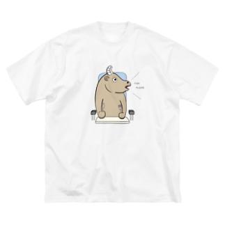 フィッシュ派のビーフ Big silhouette T-shirts