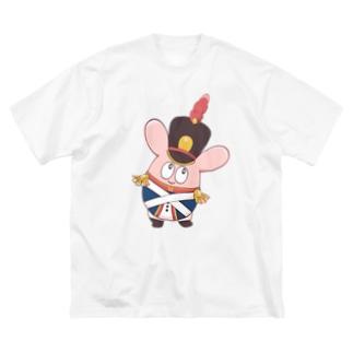 アーミーうさちゃんTシャツ Big silhouette T-shirts