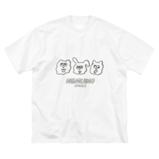 nemuino Big silhouette T-shirts