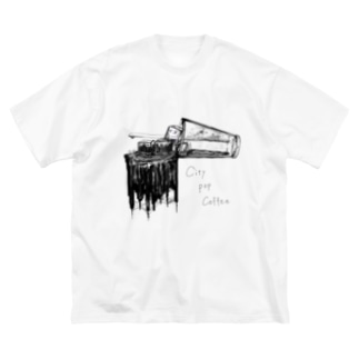 PetrichorのCity Pop Coffee Big silhouette T-shirts