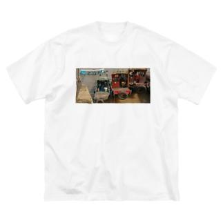 メコン川のボート Big silhouette T-shirts