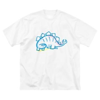 久保誠二郎 オフィシャルグッズのステゴザウルス Big silhouette T-shirts