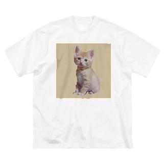 天使な茶トラ猫 Big silhouette T-shirts