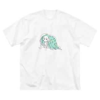くらげで雨宿り Big silhouette T-shirts