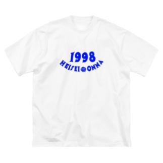 HEISEI ONNA 98' Big silhouette T-shirts