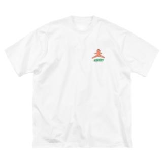 こころのトモ Big silhouette T-shirts