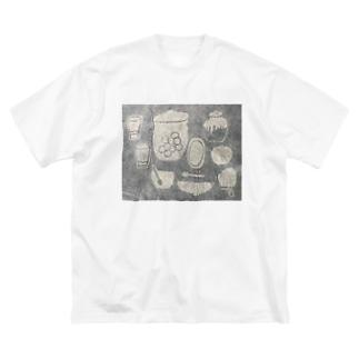 たのしい台所。 Big silhouette T-shirts