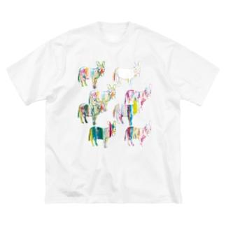 KAERUCAFE SHOPのあつまれドンキー Big silhouette T-shirts